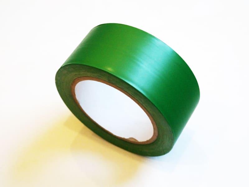 пвх лента самоклеющаяся, разметочная 33м на 50мм, цвет зеленый (040130) цена